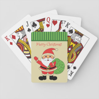 Santa Claus Merry Christmas Poker Deck