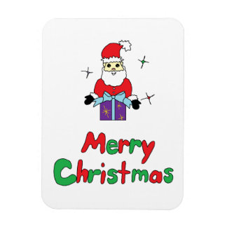Santa Claus Merry Christmas Rectangular Photo Magnet