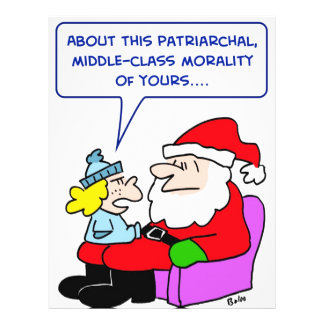santa claus middle-class patriarchal morality personalized flyer