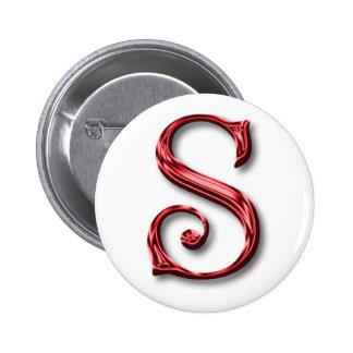 Santa Claus Monogram Initial Christmas Holidays Buttons