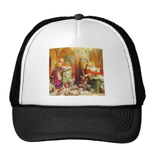 Santa Claus & Mrs Claus in the North Pole Mailroom Trucker Hat