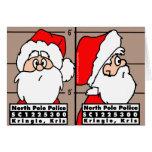 Santa Claus Mug Shot Christmas Card