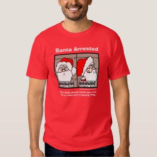 Santa Claus Mug Shot T-Shirt