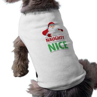 Santa Claus Naughty and Nice Dog Tee