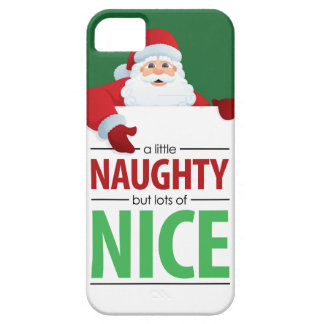 Santa Claus Naughty and Nice iPhone 5 Case