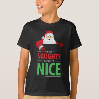 Santa Claus Naughty and Nice Kid's Dark T-Shirt