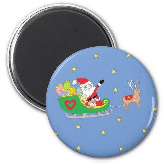 Santa Claus on Christmas Night Magnet