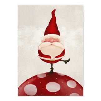 "Santa Claus on fungus 5"" X 7"" Invitation Card"