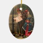 Santa Claus On His Way 3 Christmas Tree Ornaments