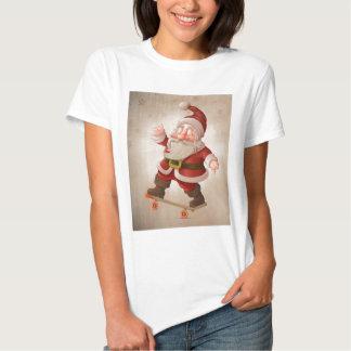 Santa Claus on skateboard Tee Shirts