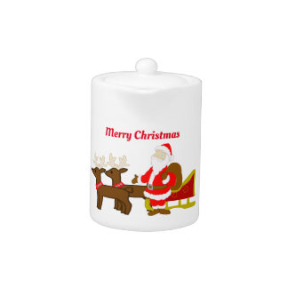 santa claus on the christmas sleigh