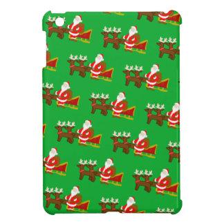 santa claus on the christmas sleigh iPad mini cases