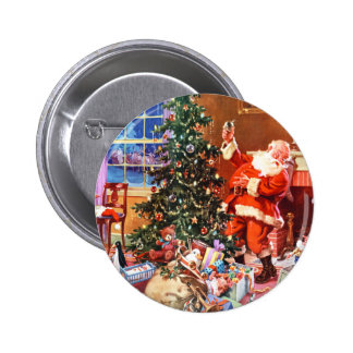 Santa Claus on The Night Before Christmas Buttons