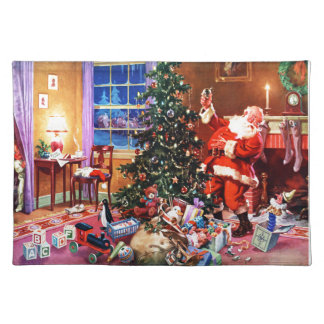 Santa Claus on the Night Before Christmas Placemat