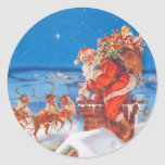 Santa Claus On the Night Before Christmas Stickers