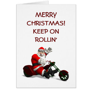 Santa Claus On Trike Greeting Card