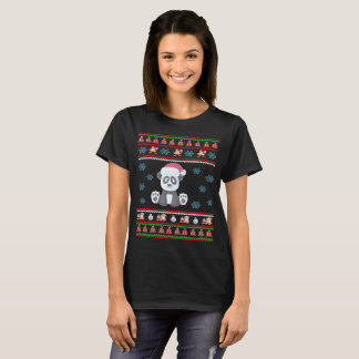 Santa Claus Panda Christmas Ugly Sweater T-Shirt