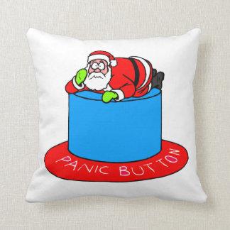 Santa Claus Panic Button Throw Pillows