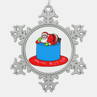 Santa Claus Panic Button Ornaments