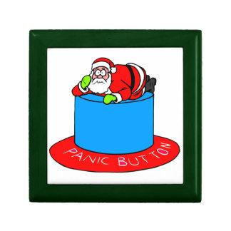 Santa Claus Panic Button Keepsake Boxes