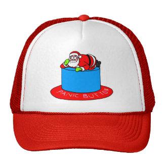 Santa Claus Panic Button Trucker Hats