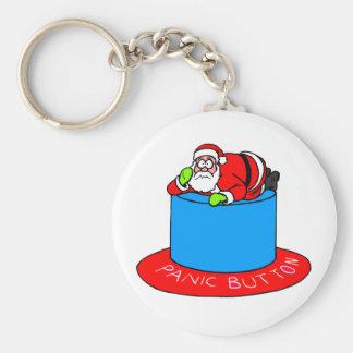 Santa Claus Panic Button Key Chains