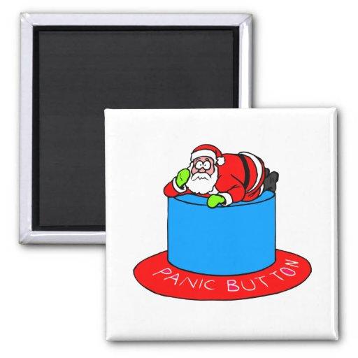Santa Claus Panic Button Refrigerator Magnet