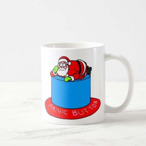 Santa Claus Panic Button Coffee Mug