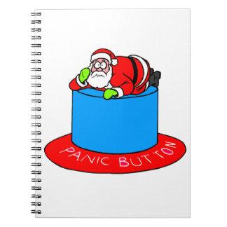 Santa Claus Panic Button Notebooks