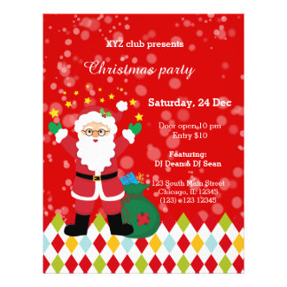 Santa Claus party * choose background color 21.5 Cm X 28 Cm Flyer