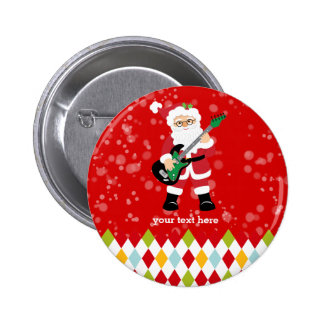 Santa Claus party * choose background color 6 Cm Round Badge