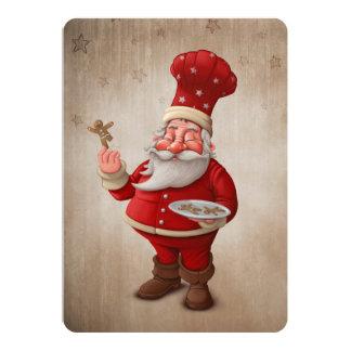 Santa Claus Pastry Personalised Invitation