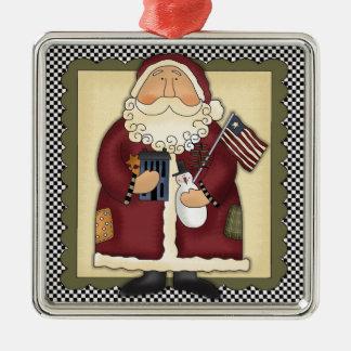 Santa Claus Patriotic Country Christmas Keepsake Christmas Ornament