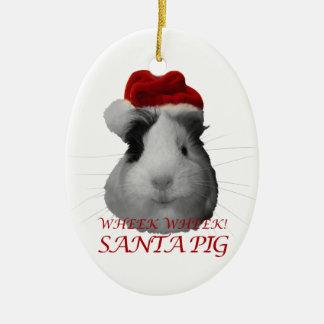 Santa Claus Pig Guinea Pig Christmas Holidays Christmas Ornament