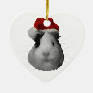 Santa Claus Pig Guinea Pig Christmas Holidays Christmas Ornament