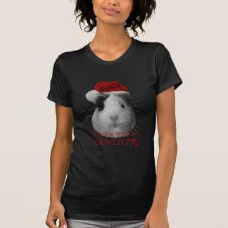 Santa Claus Pig Guinea Pig Christmas Holidays T-Shirt