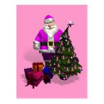 Santa Claus Pink Ribbons