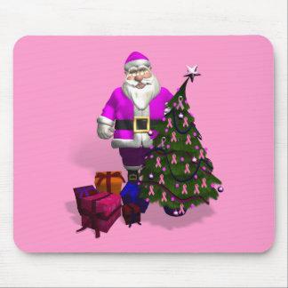 Santa Claus Pink Ribbons Mouse Pad