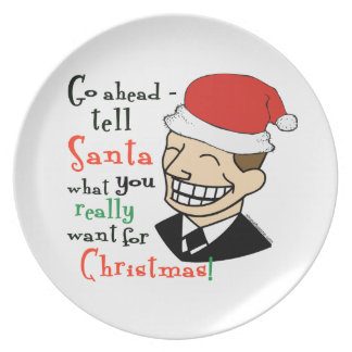 Santa Claus Dinner Plates