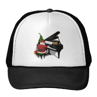 Santa Claus Playing Piano Trucker Hat