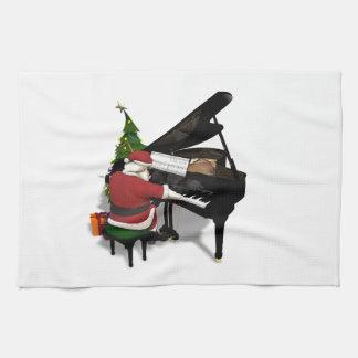 Santa Claus Playing Piano Towel