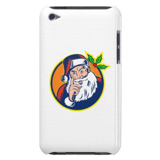Santa Claus Pointing Finger Retro iPod Touch Case-Mate Case