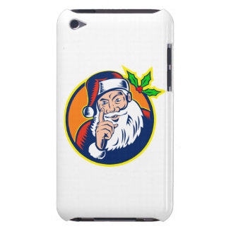 Santa Claus Pointing Finger Retro iPod Touch Cases