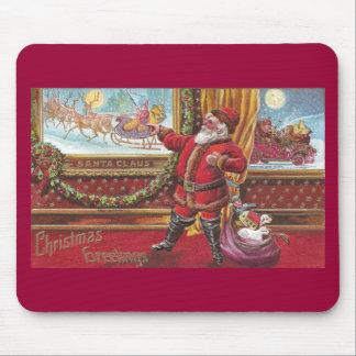 Santa Claus Points Proudly at His Portrait Mouse Pad