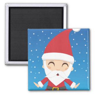 Santa Claus Post Square Magnet