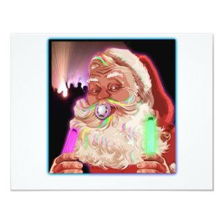 Santa Claus Raves  Funny Santa Raver-  No Text - Card