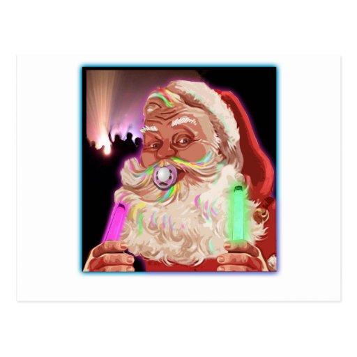 Santa Claus Raves  Funny Santa Raver-  No Text - Post Card