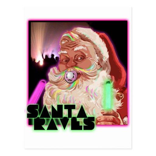 Santa Claus Raves - Funny Santa Raver Postcards