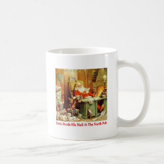 Santa Claus Reads His Mail at the North Pole Coffee Mug