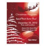 Santa Claus Red Christmas Program Flyer